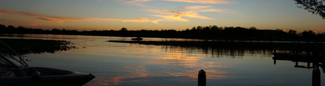 Sunset over Lake May in Winter Haven, FL.