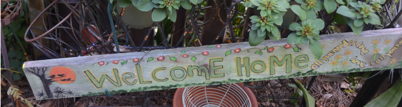 Welcome to the garden rustic sign