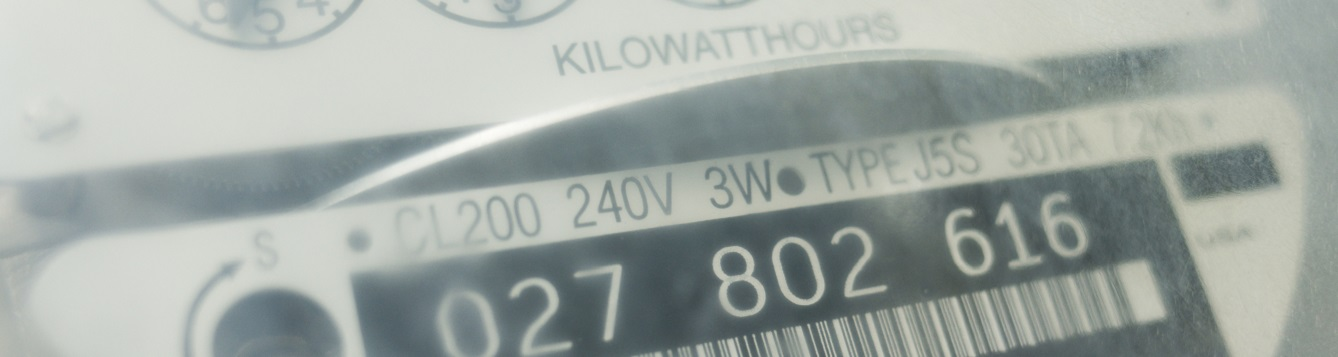 an electric utility meter