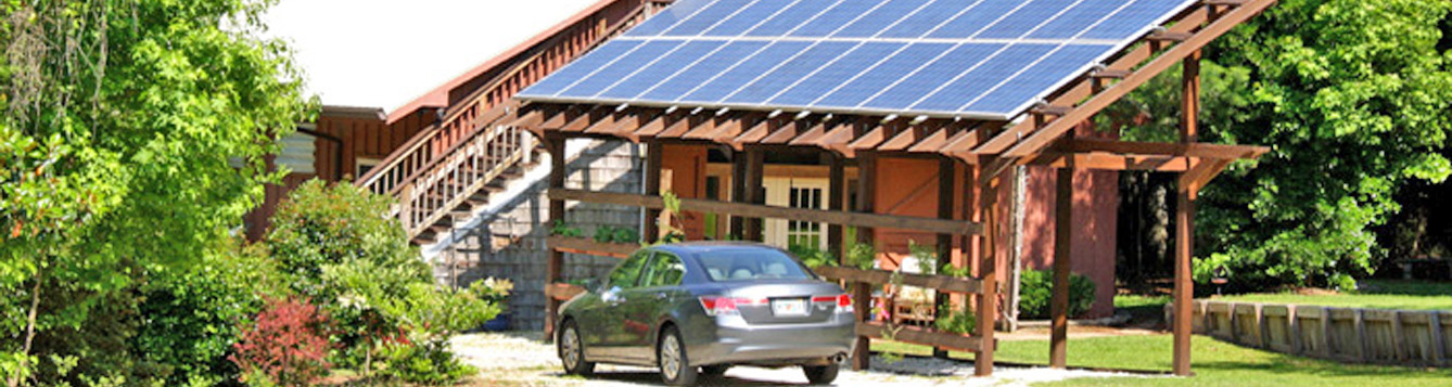 solar panels atop a home