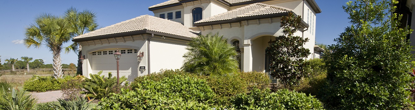 home with florida-friendly landscaping