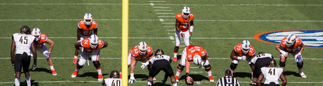university of florida football team in action