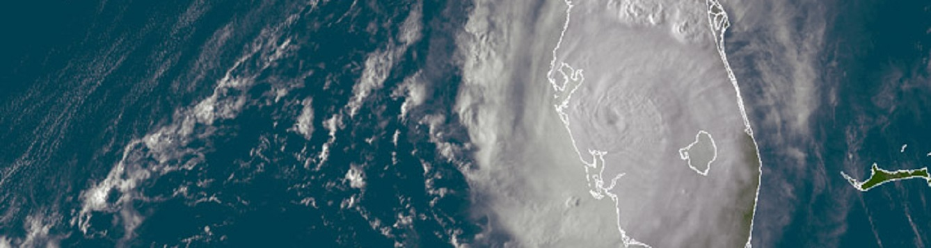 satellite image shows hurricane charley over west-central florida in 2004