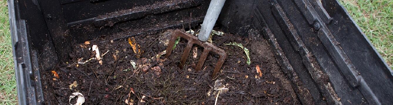 Compost bin. [CREDIT: Tyler Jones, UF/IFAS]