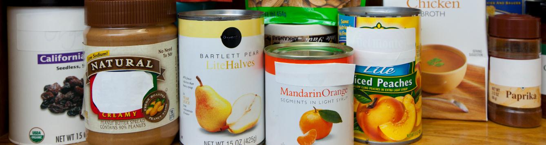 Pantry organization of non-perishable food items. [CREDIT: UF/IFAS, Tyler Jones]