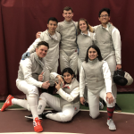 group of fencers at a competition