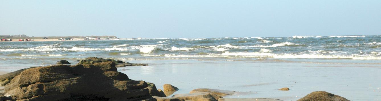 rocky shore of Atlantic Ocean