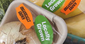 produce labeled as organic and locally produced