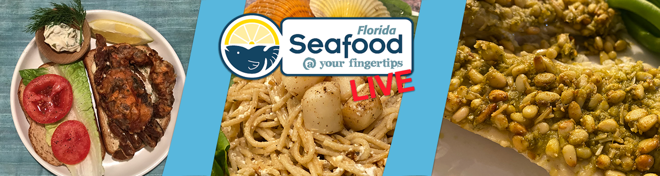 seafood dishes and program logo