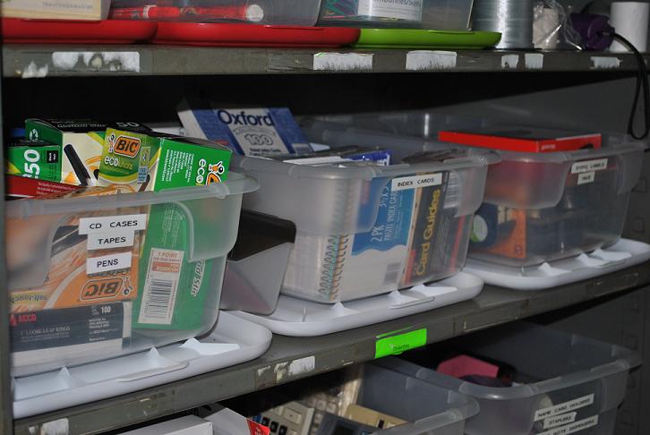 Organized storage closet