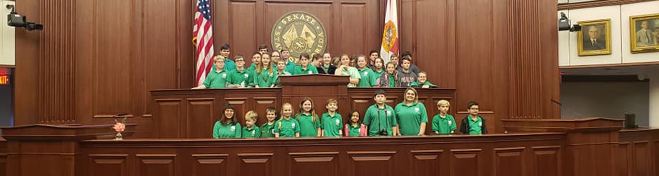 Youth at in the Florida Senate Chamber